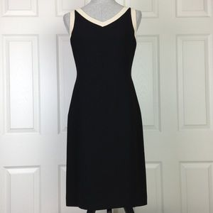 Ann Taylor Loft Black Sleeveless Sheath Dress